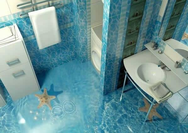 Fußboden Mit 3d Effekt ~ Badezimmer d boden u vitaplaza