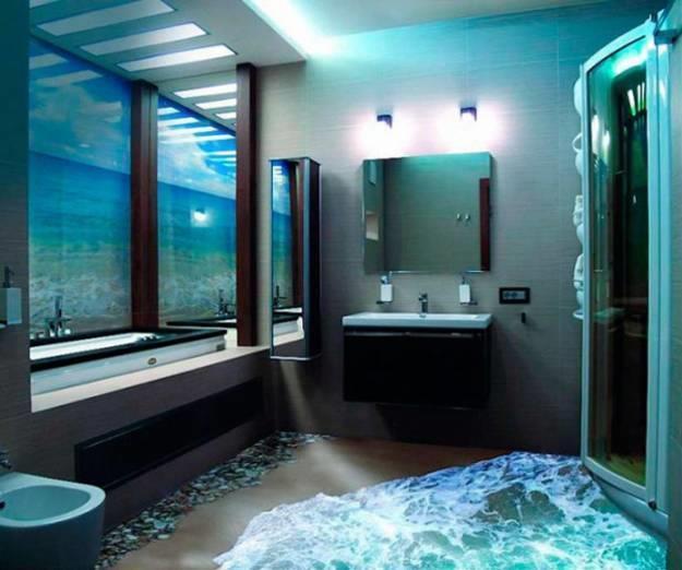 Badezimmer 3D Boden - Design