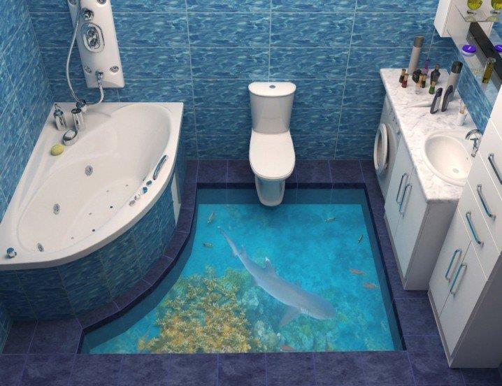 3d-boden bietet wow-effekt im badezimmer_china.cn, Badezimmer ideen