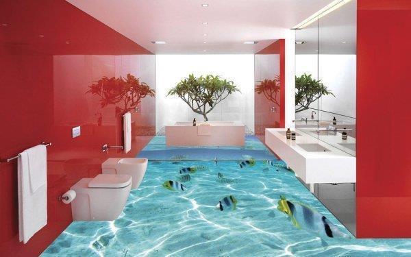 Super 3D-Boden bietet Wow-Effekt im Badezimmer_China.org.cn GC88