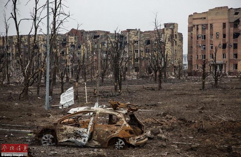 Ostukraine krieg legt donezk in schutt und asche