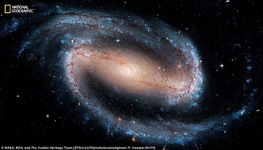 Smiley im all weltraumteleskop hubble zeigt aufnahme eines