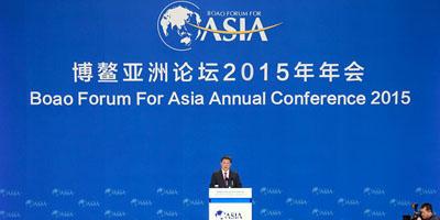 Die Eröffnungsfeier der Jahrestagung des Bo'ao Aasien-Forums 2015 fand am Samstag in der südchinesischen Inselprovinz Hainan statt. Chinas Staatspräsident Xi Jinping nahm daran teil und hielt dabei eine Rede.
