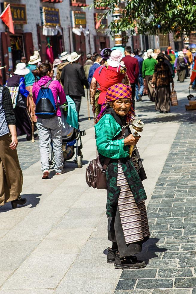 Barkhor-Straße in Lhasa