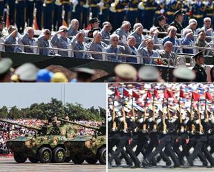 China hat am Donnerstag anlässlich des 70. Jahrestags des Sieges Chinas im Widerstandskrieg gegen die japanische Aggression und im Antifaschistischen Krieg Gedenkveranstaltungen abgehalten, einschließlich der eindrucksvollen Militärparade.