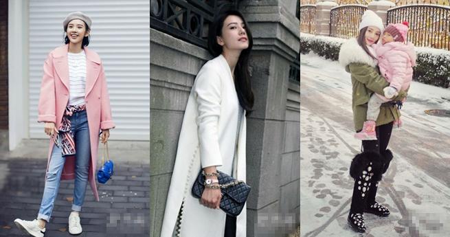 Was tragen die chinesischen Stars im Winter?