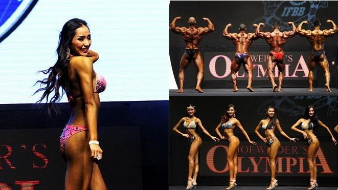 Bodybuilderinnen zeigen in Hongkong die Schönheit ihrer Kraft