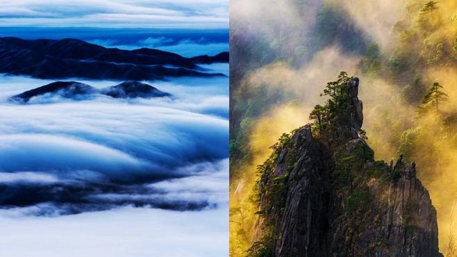 Wolkenmeer beim Huangshan-Gebirge