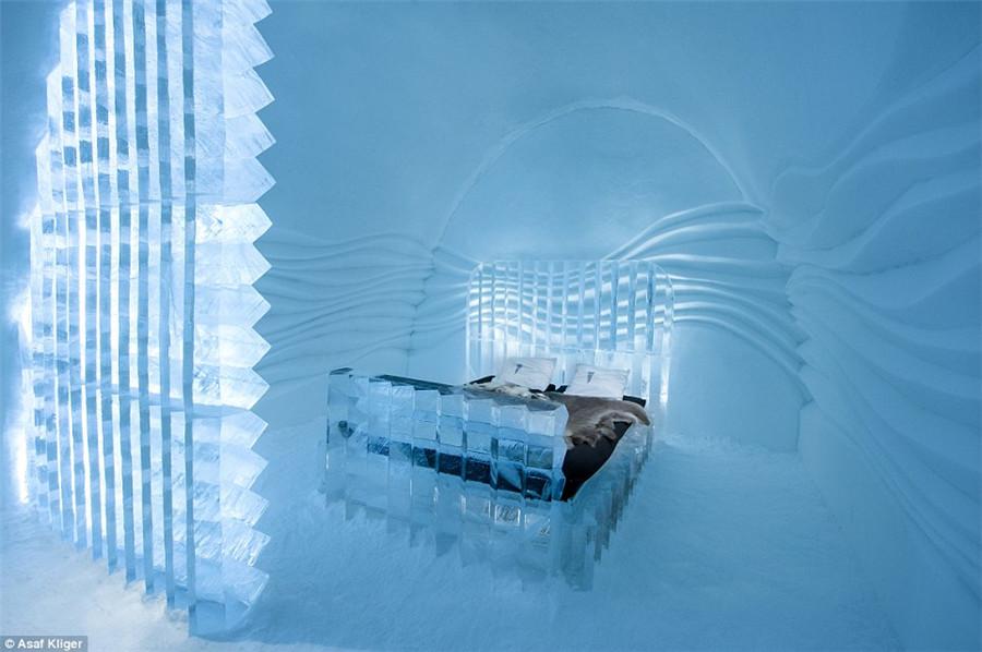 Märchenhaftes Eis-Hotel in Schweden eröffnet_China.org.cn