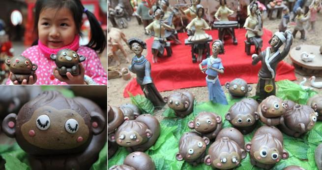 Traditionelle chinesische Volkskunst: Tonfiguren