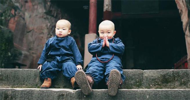 Süße kleine Mönche werden zum Internet-Hit