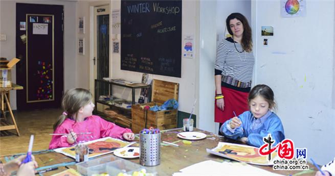 Marianne Daquet und ihre Kunstwerkstatt 'Atelier'