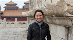 Mädchen aus Russland erlebt chinesische Kultur