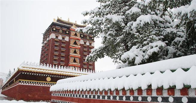 Schnee in Nordwestchina