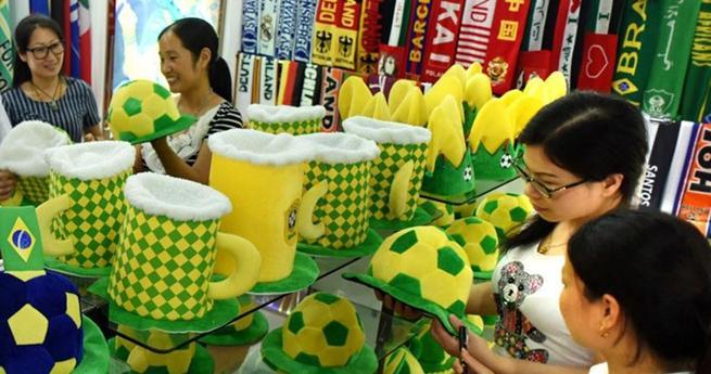 Sportartikel für Olympische Spiele in China produziert