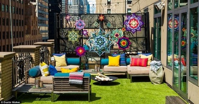 Luxus und Genuss: Campen auf einer Dachterrasse in New York