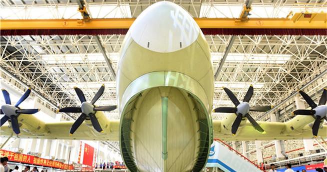 Weltweit größtes Amphibienflugzeug in China erbaut