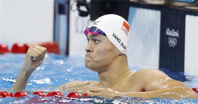 Sun Yang gewinnt die Goldmedaille beim 200 Meter Freistil