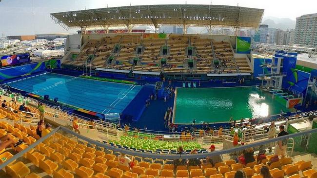 Olympia in Rio: Wasser beim Turmspringen wird grün