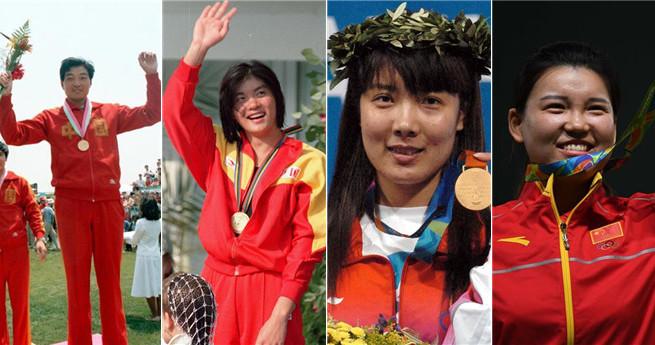 Chinas erste Goldmedaillen in der Geschichte der Olympischen Spiele