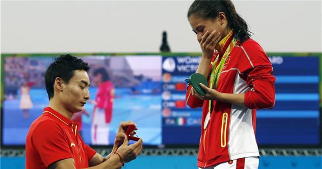 Romantischer Moment in Rio: Heiratsantrag nach der Siegerehrung