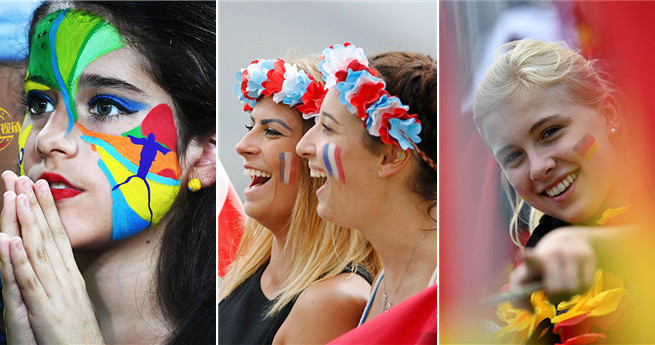 Rio de Janeiro aus einem anderen Blickwinkel: schöne Zuschauer bei der Olympiade