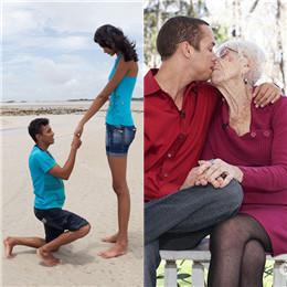 Die wunderbaren Paare der Welt zeigen die wahre Liebe