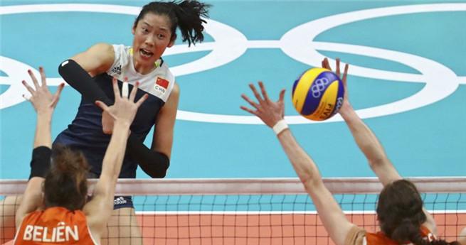 Chinesische Frauen-Volleyballmannschaft zieht ins olympische Finale ein