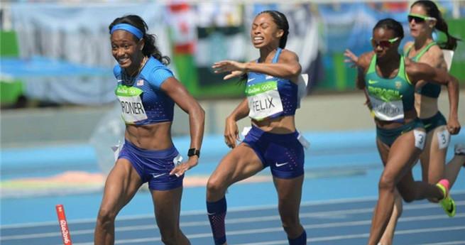 Amerikanisches Solo-Rennen: China scheidet aus dem 4x100 Meter Staffel-Finale aus
