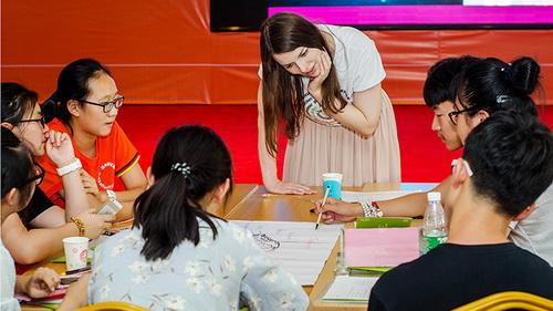 Chinesische Jugendliche erwarten Austausch mit Deutschlernenden aus aller Welt