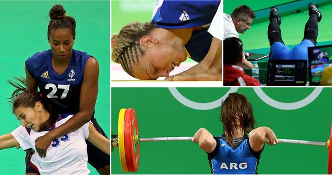 Verlegene Momente bei der Olympiade in Rio
