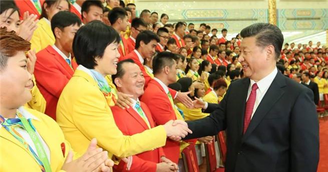 Xi Jinping empfängt chinesische Olympia-Delegation