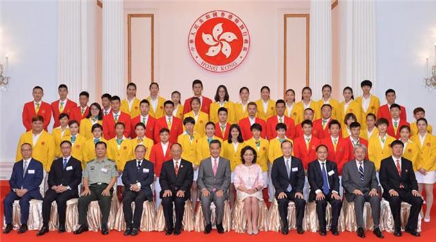 Olympische Sportler vom chinesischen Festland besuchen Hongkong