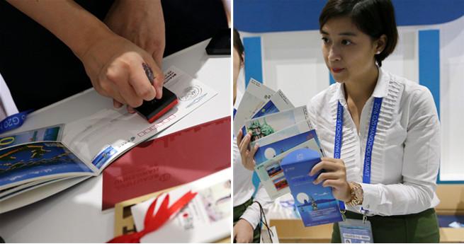 Gedenkbriefmarke zum G20-Gipfel wird im Medienzentrum zum Hit