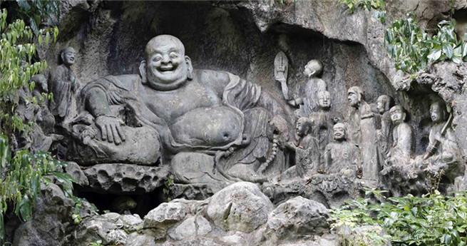 Landschaft des Lingyin-Tempels in Hangzhou