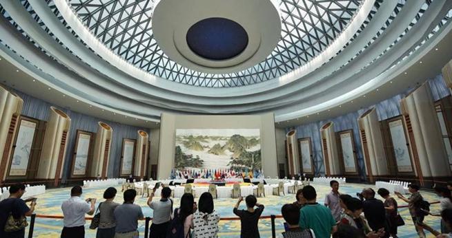 Veranstaltungshalle des G20-Gipfels in Hangzhou jetzt der ?ffentlichkeit zug?nglich