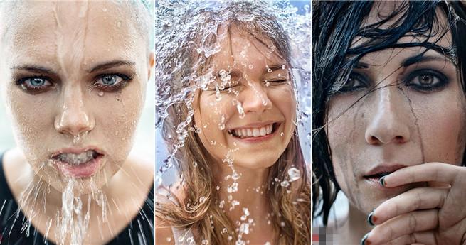 Wenn sich Frauen und Wasser treffen: Fotografin erzählt Geschichte mit 24 Liter Wasser