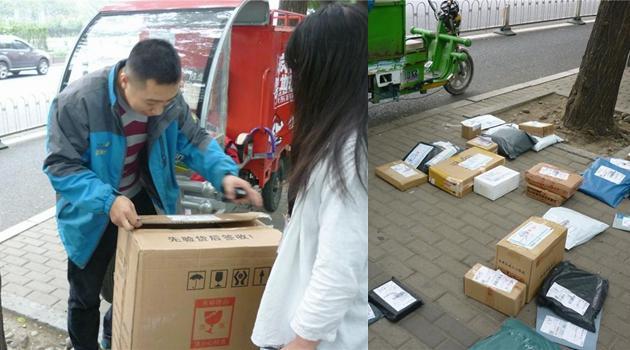 Das Leben eines Expresszustellers in Beijing