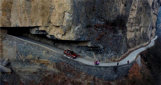 Gefährliche Straße in Nordchina