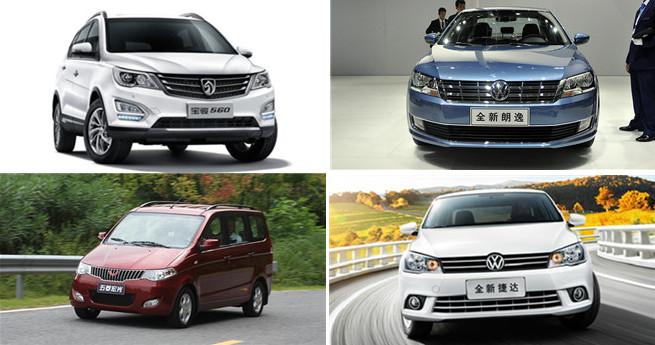 Die zehn meistverkauften Fahrzeuge in China 2016