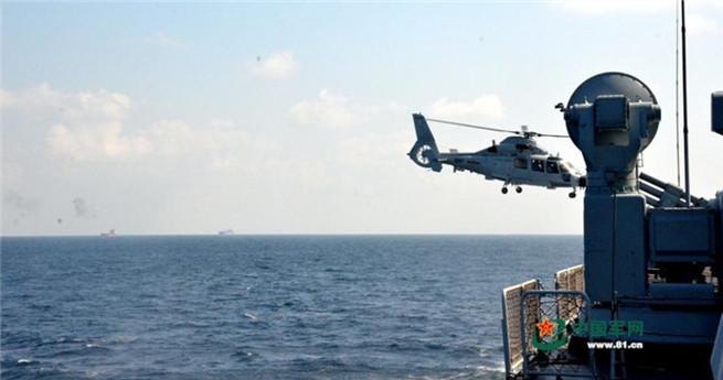 Chinesische Marine übt im Golf von Arden