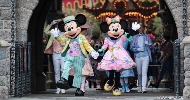 Frühlingskarneval in Hongkong Disneyland