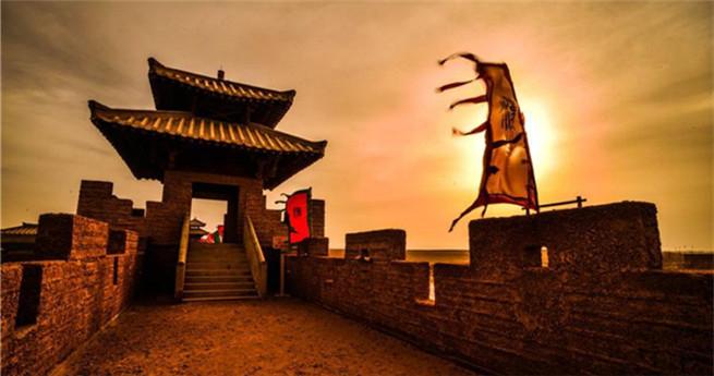 Alte Festung Yangguan-Pass heute Touristenattraktion