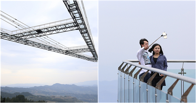 Nervenkitzel: Chongqing baut 80 Meter langen Himmelssteg