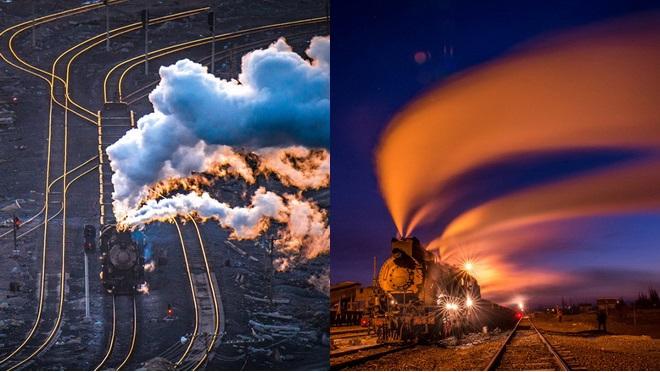 Sandaoling, Dampflokomotive, Xinjiang, Kohle