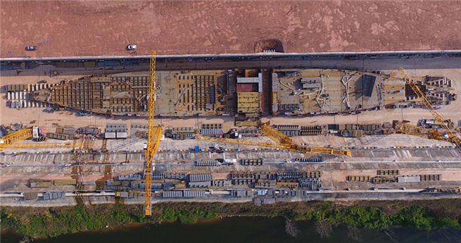 """Einblick in die Baustelle der """"chinesischen Titanic"""""""