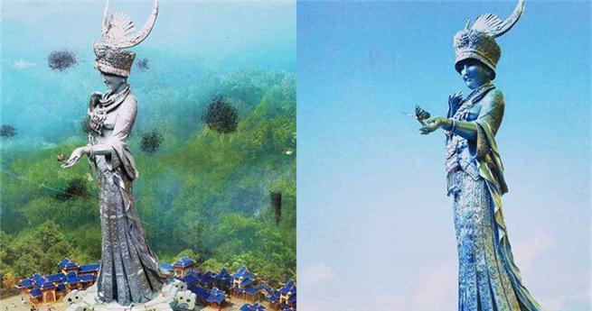 88 Meter große Statue in Guizhou: Göttin der Schönheit der Miao-Nationalität