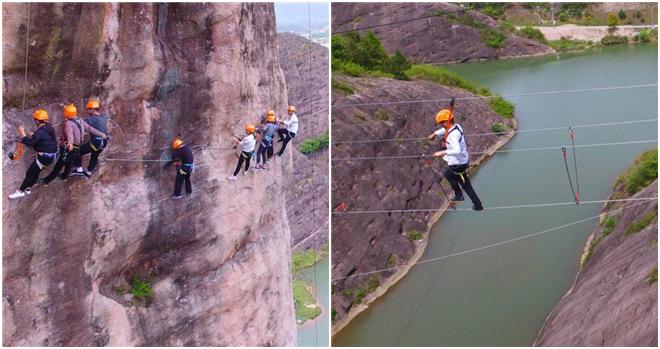 'Via Ferrata' in Hunan lädt Touristen zu Abenteuern ein