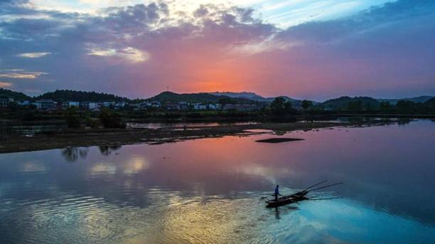 Luftaufnahmen,Xiannü-See, Jiangxi