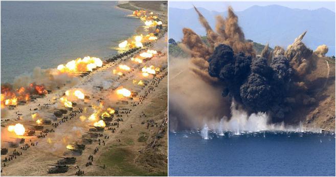 Nordkorea hält große Militärübung ab